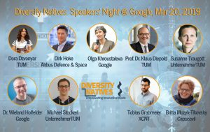 #1 Diversity Natives Speakers Night with Airbus, Google, UnternehmerTUM, TUM